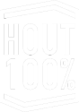 100% hout
